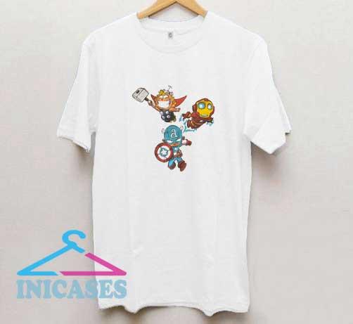 Marvel Characters Chibi T Shirt