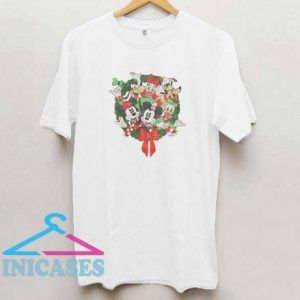 Mickey Mouse Friends Holiday Wreath T Shirt
