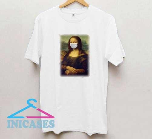 Mona Lisa Face Mask T Shirt