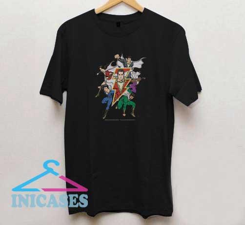 Shazam Group Heroes T Shirt