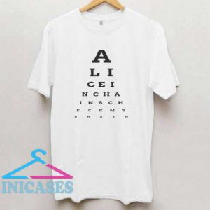 Alice In Chances Letter T Shirt