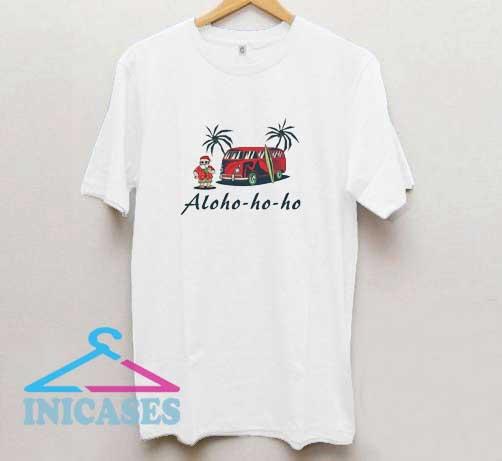 Aloho-ho-ho Surfing Santa T Shirt