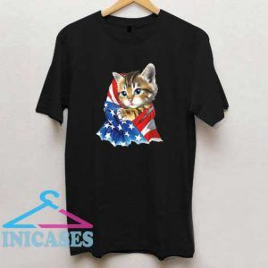 American Flag Kitty T Shirt