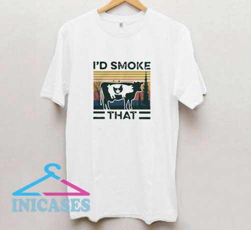 Id Smoke That Vintage T Shirt