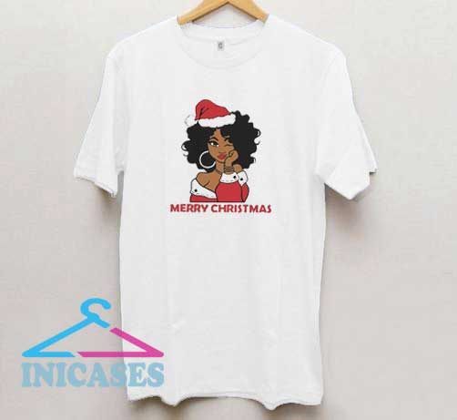 Merry Christmas Black Girl T Shirt