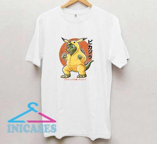 Pikazilla Pokemon Japanese T Shirt