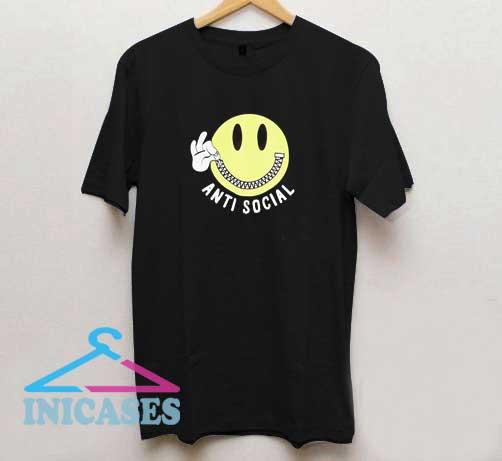 Anti Social Smiley T Shirt